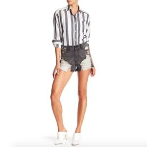 SP BLACK High Rise Denim Shorts Size M